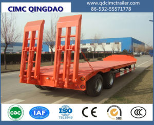 Truck Chassis 2/3 Axles Semi Trailer Truck Trailer (flatbed style) Cimc pictures & photos