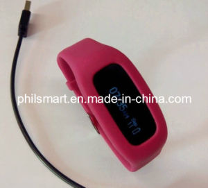 Silicone Sport Digital Gym Exercise Wristband Watch with USB Port (PHH-990340) pictures & photos