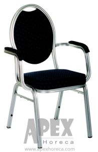 Aluminum Hotel Furniture Dining Chair with Armrest (AH6015A) pictures & photos