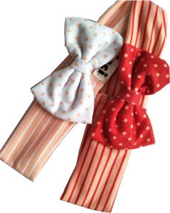 Stripe and Dots Printings Cotton Fabric with Magic Tape Baby Headbands pictures & photos
