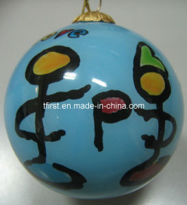 Glass Christmas Ball With Beautiful Inside Painting