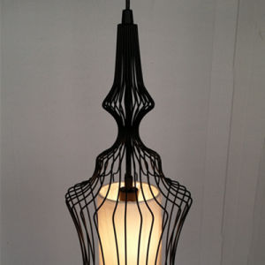 Chinese Style Painted Black Bird Cage Iron Pendant Lamp pictures & photos