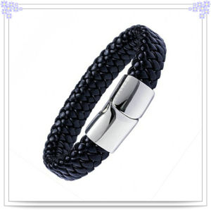 Magnetic Jewelry Leather Bracelet for Jewelry Fashion (LB086)