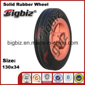 Wheelbarrow Diameter 120mm Big Soild Rubber Wheel Tyre pictures & photos
