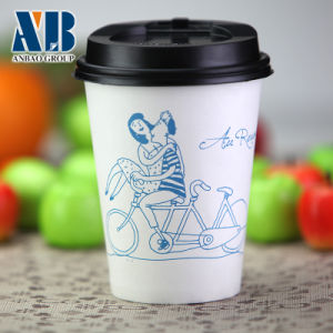 Single Wall Paper Cups for Coffee, Tea with Lids