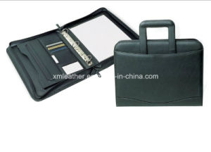 PU Leather Breifcase Folio with Handle Strap pictures & photos