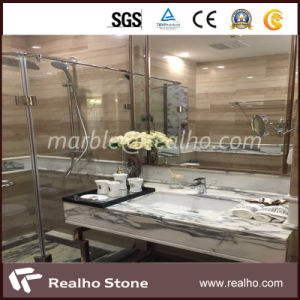 Athens Grain Wood Marble, White Marble Slab for Kitchen