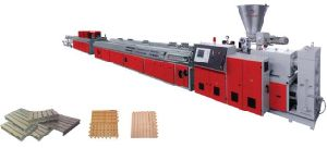 WPC Wood Plastic Profile Extrusion Line pictures & photos