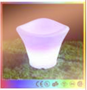 Night Club Wine Rechargeable Glowing Cooler LED Ice Bucket pictures & photos