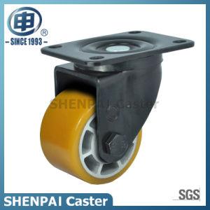 "2.5""Aluminium Core Yellow PU Swivel Caster Wheel pictures & photos"