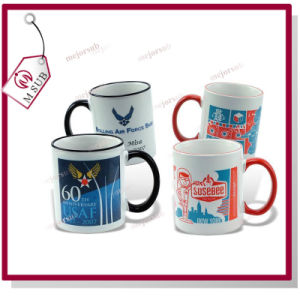 15oz Colored Handle White Blank Sublimation Mug pictures & photos