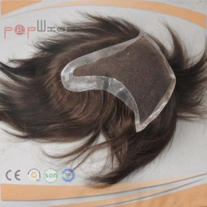 Full Human Hair Dyeable Hand Tied Front Lace Hair Piece Toupee pictures & photos