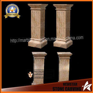 Square Married Beige Pedestal Columns, Garden Pillars pictures & photos