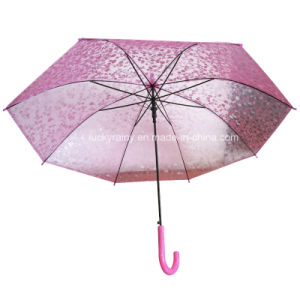 Plastic Transparent Poe Umbrella with Attractive 3D Design