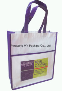 Advertisement BOPP Laminated Non Woven Tote Bag for Shopping pictures & photos