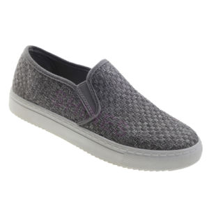 Wool Texile Women′s Slip on Injection Shoes