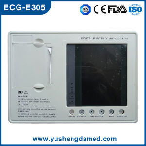 3 Channel 7 Inch Monitor Digital Electrocardiograph ECG Machine pictures & photos
