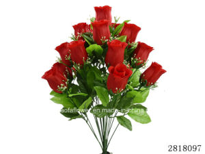 Artificial/Plastic/Silk Flower Rosebud Mixed Bush (2818097) pictures & photos