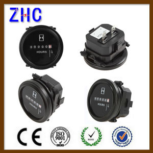 DC 8-80V Mini Round Mechanical Quariz Hour Meter pictures & photos