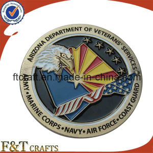 Army Souvenir Soft Enamel Antique Bronze Plated Eagle Replica Coins for Military Veterans pictures & photos