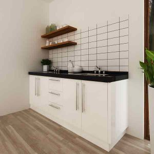 Oppein Australia Project Small White Lacquer Wooden Kitchen Cabinets (OP14-L05) pictures & photos