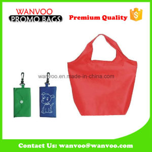 Red Foldable Polyester Non-Woven Shopping Bag with Hook pictures & photos