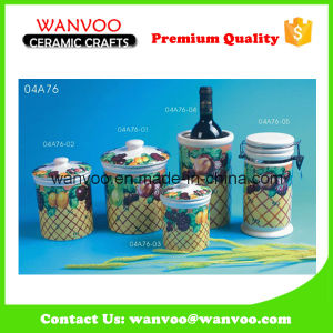 Eco-Friendly Jam Jar Ceramic Jam Jar with Lid pictures & photos