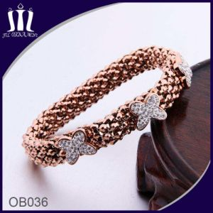 Elastic Rope Stretch Rose Butterfly Bracelet for Girl pictures & photos