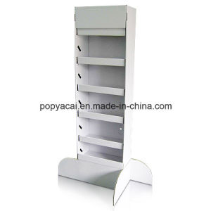 White Cardboard Floor Display Stand, 5 Shelves Pallet Display Box pictures & photos