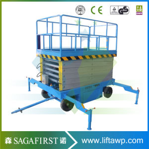 6m-12m Electric Self Propelled Scissor Lift Platform Aerial Lift pictures & photos