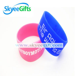 Custom Logo Printed Promotional Silicone Rubber Wristband pictures & photos