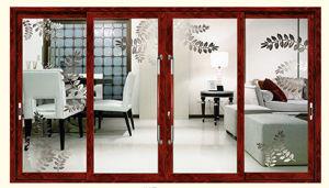 Good Heat&Sound Insulation Tempered Glass Aluminum Sliding Door pictures & photos