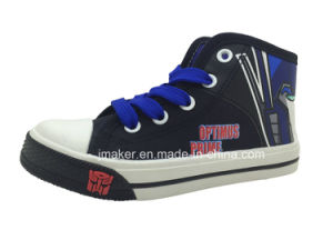 Fashion Cartoon High Ankle Children Shoes Sneaker (X167-S&B)