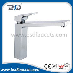 Chrome Finish Single Handle Sink Mixer Bathroom Basin Faucet Watermark pictures & photos