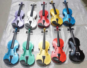 White Colour Plywood Musical Instrument Violin for Music School and Student pictures & photos