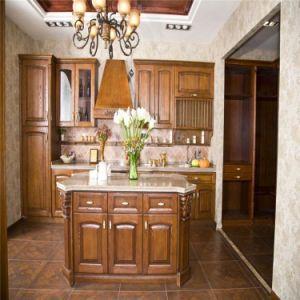 Antique Style Walnut Modular Kitchen