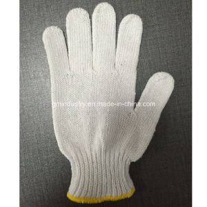 7 Gauge Knitted Cotton PVC Dotted Safety Work Glove pictures & photos