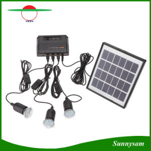 Mini Solar Power System with LED Spotlight Solar Home Kit with Detached Solar Panel with USB Port for Mobile Charge pictures & photos