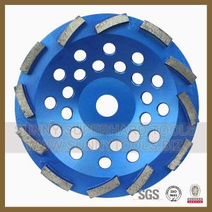 Dia180mm Diamond Disc Cup Grinding Wheel with Single Segment pictures & photos