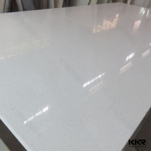170329 Cut to Size White Sparkle Engineered Stone Quartz pictures & photos