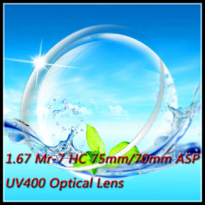1.67 Mr-7 Hc 75mm/70mm Asp UV400 Optical Lens pictures & photos
