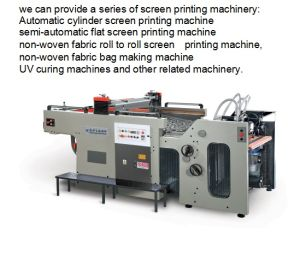 Fb-720A Full Automatic 9.36kw Single Color Stop Cylinder Screen Printing Machine