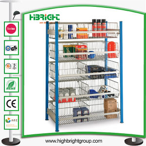5 Tier Warehouse Wire Basket Display Bins pictures & photos