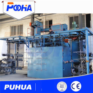 Overhead Hanger Type Shot Blasting Machine for Wheel pictures & photos
