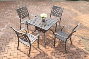 Popular Garden Dining Sets Cast Aluminum Furniture pictures & photos
