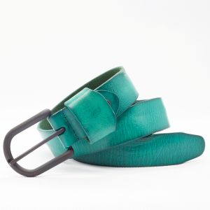 Green Genuine Leather Ladies′s Belt (SR-131210) pictures & photos