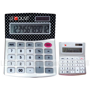 12 Digits Dual Power Desktop Calculator with Aluminium Cover and Acrylic Screen (LC210) pictures & photos