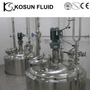 Stainless Steel Industrial Double Jacket Agitated Mixing Tank pictures & photos