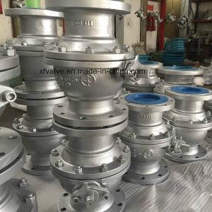 150lb/300lb Cast Carbon Steel Wcb Flange Connection End Ball Valve pictures & photos