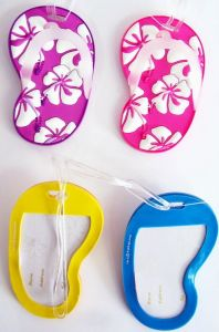 High Quality Soft PVC Rubber Colorfuls Sandals Luggage Tags pictures & photos